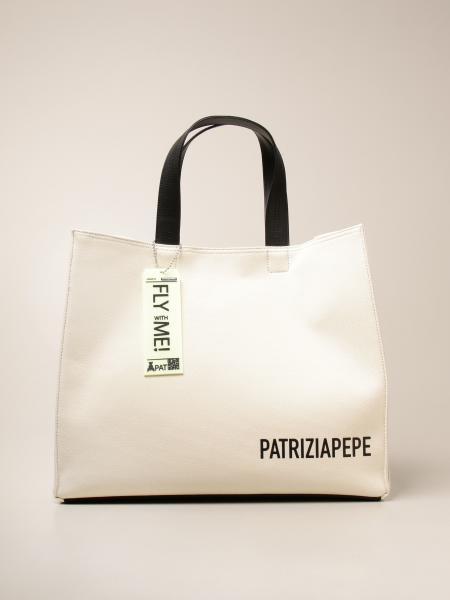Patrizia Pepe shopping bag in canvas with logo