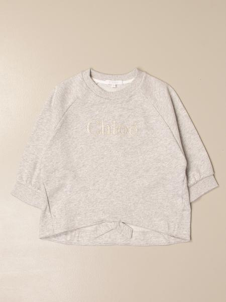 Chloé: Chloé crewneck sweater in cotton with logo