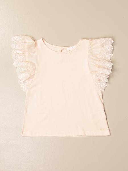 Chloé: Chloé cotton tank top with ruffle sleeves