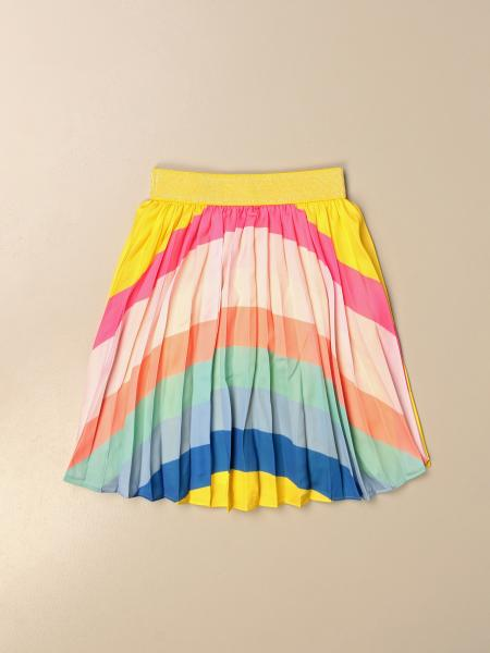Billieblush: Billieblush wide pleated skirt with colored bands