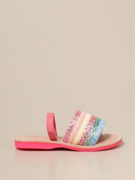 Billieblush: Billieblush band sandals with glitter bands