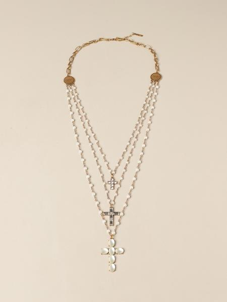 Twin Set necklace with pearls and rhinestones