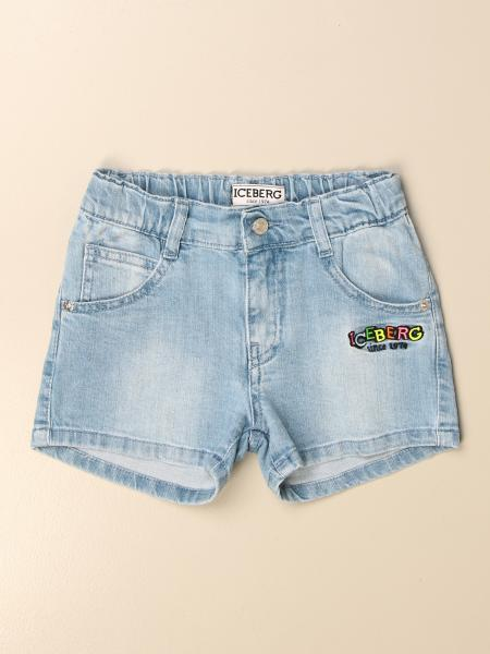 Pantaloncino di jeans Iceberg con logo