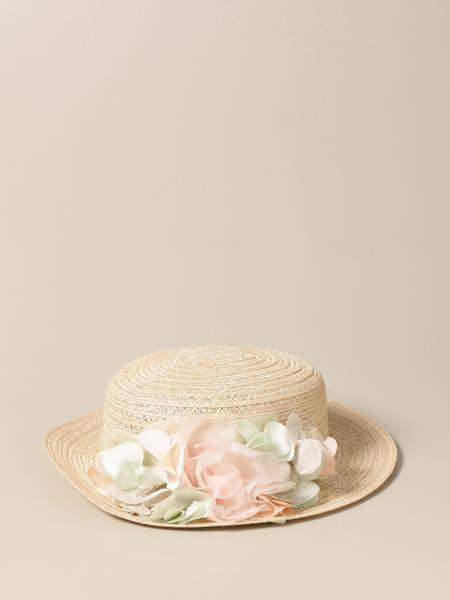 Cappello Colori Chiari con applicazioni floreali