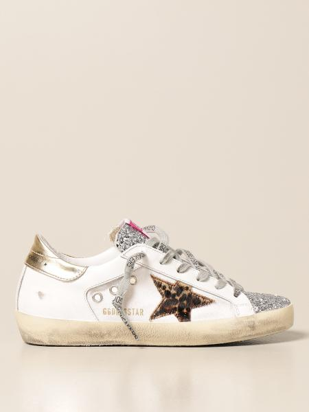 Golden Goose women: Superstar Golden Goose sneakers in canvas and glitter leather