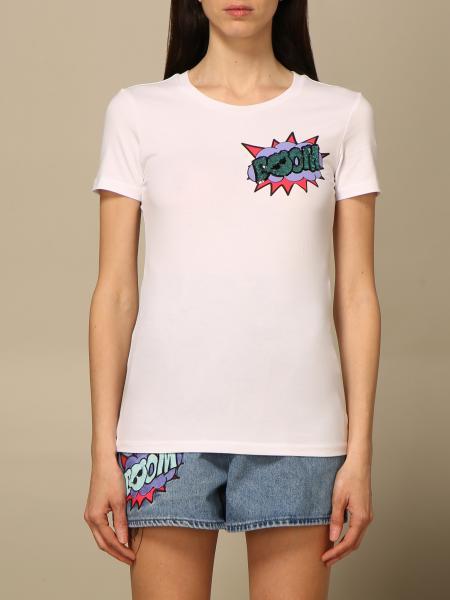 Emporio Armani women: Emporio Armani T-shirt with rhinestone boom writing