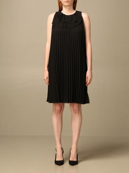 Emporio Armani women: Emporio Armani short pleated dress