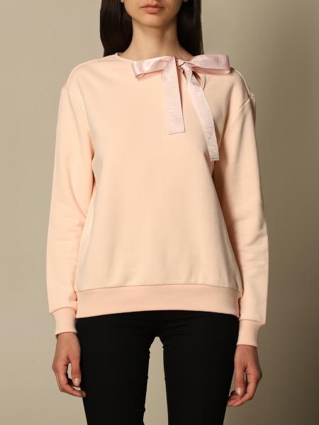 Emporio Armani women: Emporio Armani crewneck sweatshirt with bow