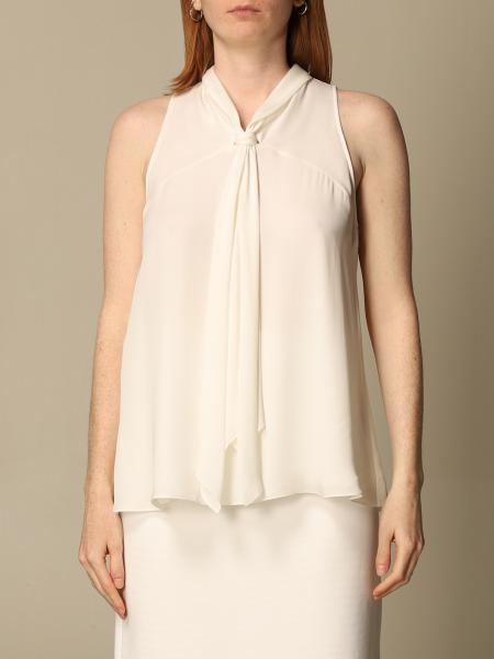 Emporio Armani women: Emporio Armani silk top with sash