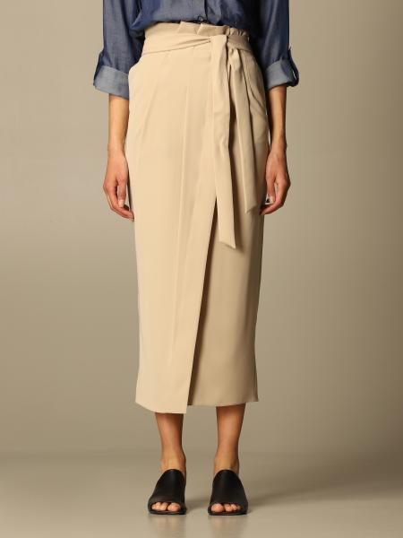 Emporio Armani women: Emporio Armani midi skirt with belt