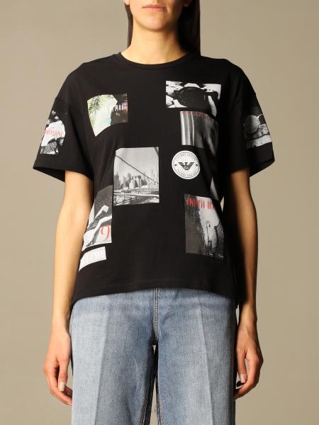Emporio Armani women: Emporio Armani T-shirt with all over prints