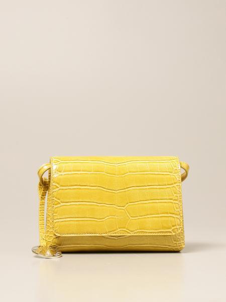 Emporio Armani women: Emporio Armani shoulder bag in synthetic leather with crocodile print