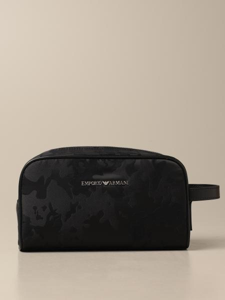 Beauty case Emporio Armani in tela camouflage