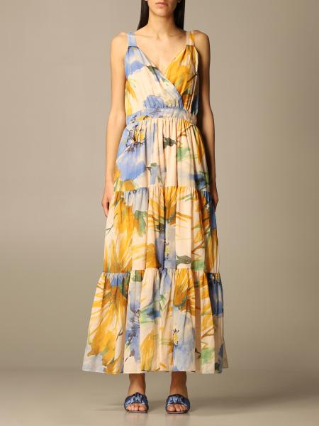 Twin Set Actitude: Twin-set Actitude long dress with floral pattern