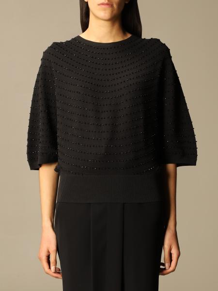 Emporio Armani women: Emporio Armani sweater with micro rhinestones