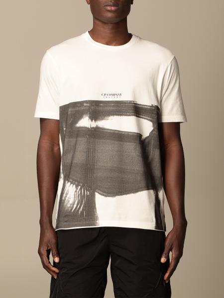 T-shirt C.p. Company con stampa astratta