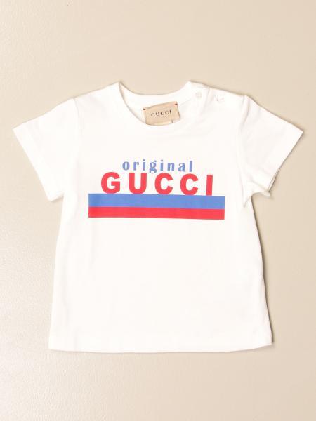 T-shirt Gucci in cotone con big logo