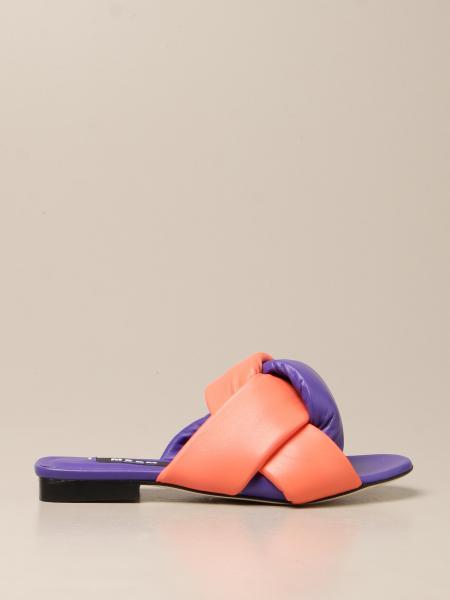 Босоножки без каблука Женское Msgm