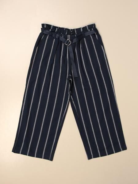 Pantalone ampio Tommy Hilfiger in cotone a righe