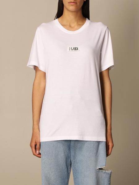Maison Margiela: T-shirt damen Mm6 Maison Margiela