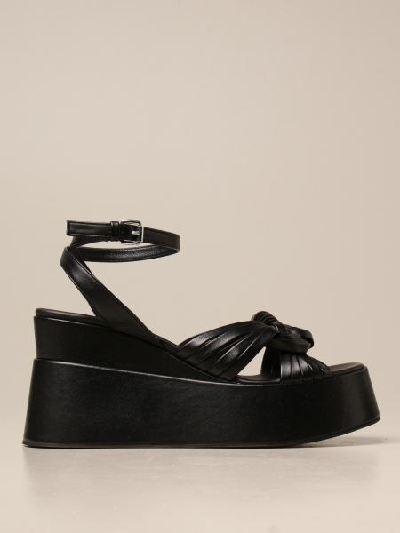 Elena Iachi: Sandalo con zeppa Elena Iachi in pelle