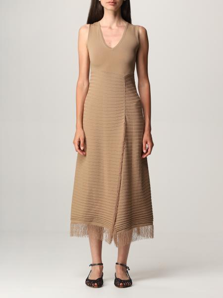 Pinko women: Pinko knit dress with fringes