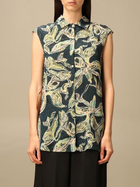 Camicia Alysi in misto seta stampata