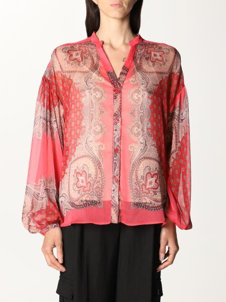 Twinset women: Twin-set shirt with paisley pattern and foulard