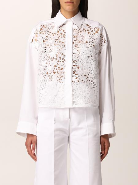 Camicia Valentino in macramé di cotone