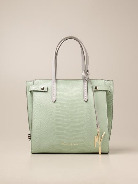 Manila Grace women: Manila Grace shoulder bag in textured synthetic leather