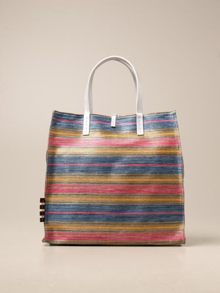 Manila Grace women: Manila Grace handbag in striped canvas