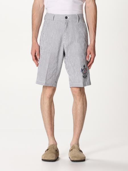 Paul & Shark: Pantaloncino in cotone a righe Paul & Shark