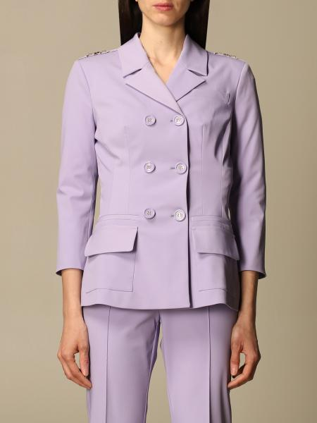 Elisabetta Franchi double-breasted jacket in technical fabric