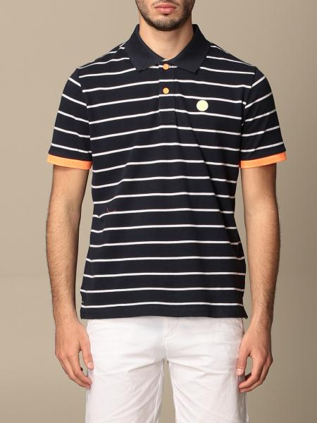 North Sails striped cotton polo shirt
