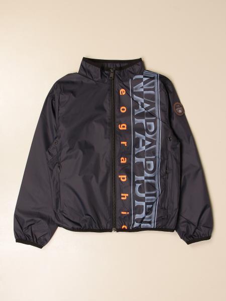 Giacca di nylon Napapijri con big logo
