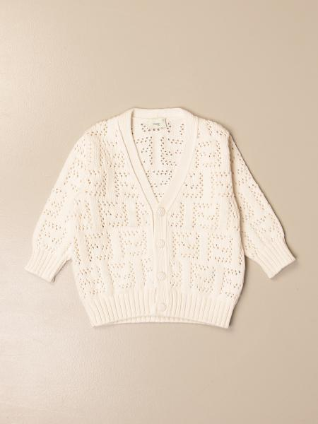 Fendi v-neck knitted cardigan with FF monogram