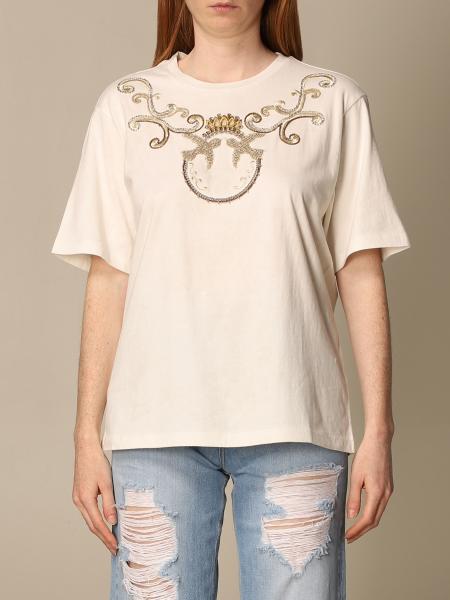 Pinko women: Pinko T-shirt with Love Bird's logo