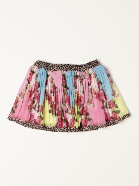 Miss Blumarine mini skirt with floral pattern