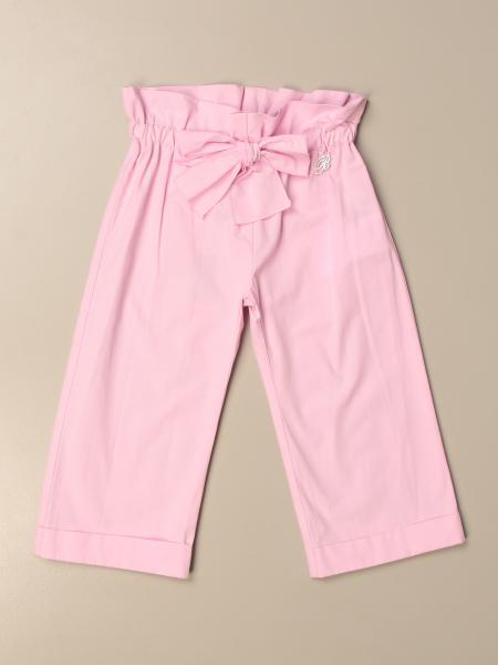 Pantalone a vita alta Miss Blumarine in cotone