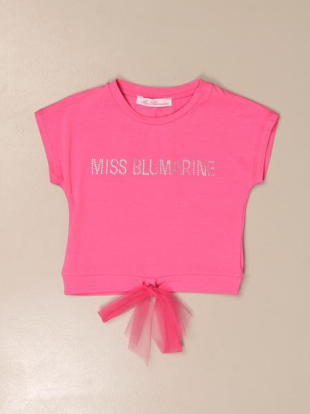 T-shirt Miss Blumarine in cotone con logo