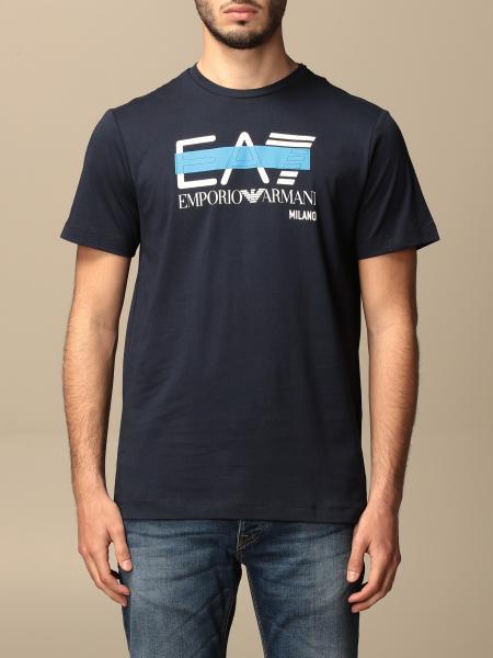 T-shirt Ea7 in cotone con stampa logo