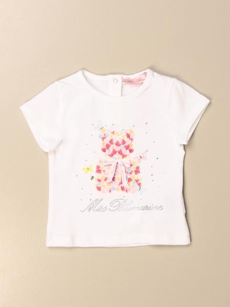 T-shirt Miss Blumarine in cotone con stampa