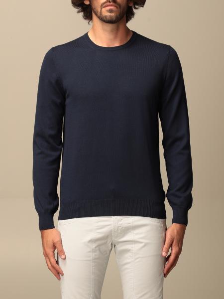 Gran Sasso basic crewneck sweater in cotton