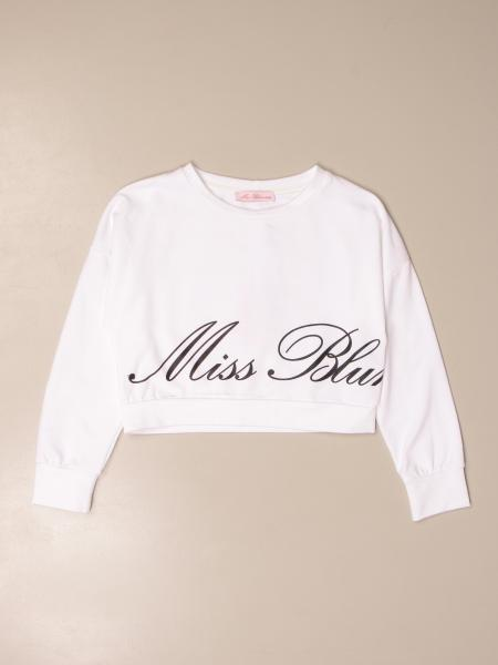 Maglia cropped Miss Blumarine con logo