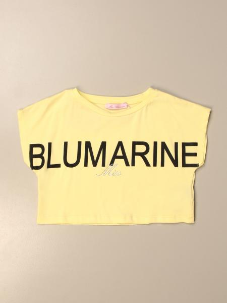 Miss Blumarine cropped t-shirt with big logo