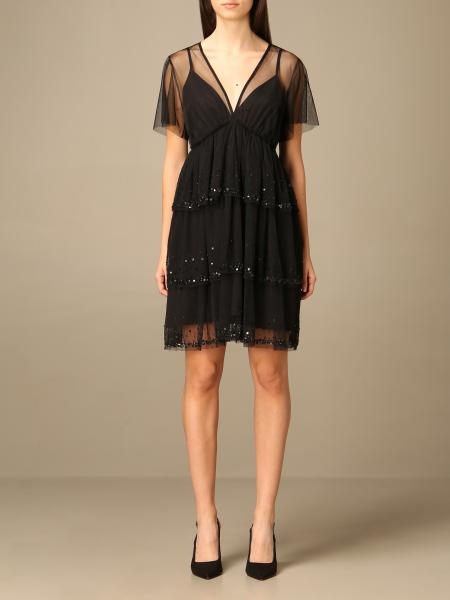 Twin Set Actitude: Twin-set Actitude short dress with applications