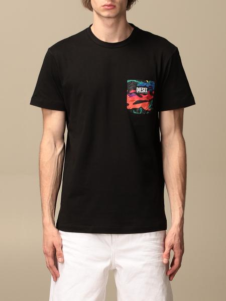 Diesel cotton T-shirt with camouflage pocket