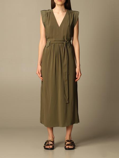 Twinset women: Twin-set midi dress in viscose