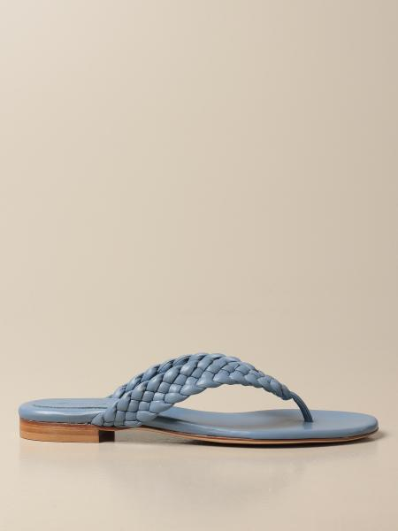 Anna F.: Anna F. thong sandals in woven nappa