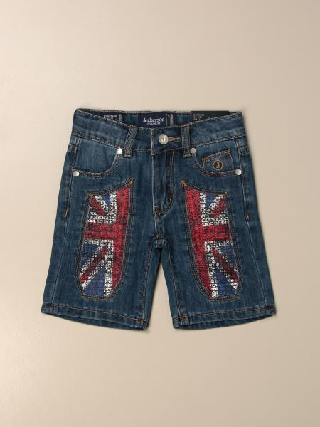 Jeckerson denim shorts with flag patches